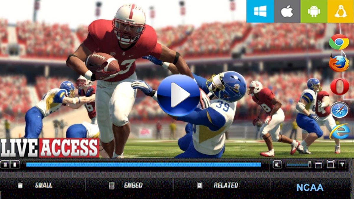 live stream ncaa football american college football